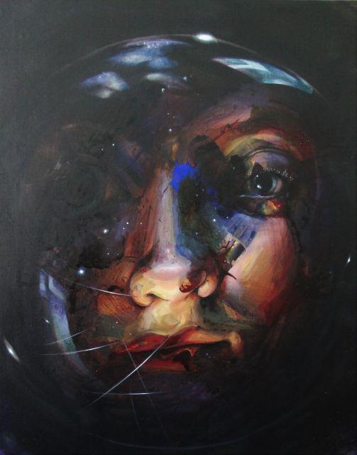 Sphäre_1, 2018, 100 x 80 cm, Öl Acryl auf Leinwand